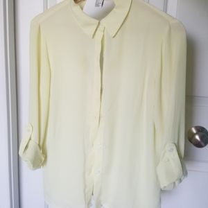 Flowy Yellow Button Down